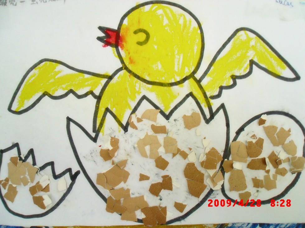 妈妈/蛋壳画