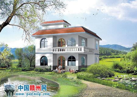 根据以下外观效果设计平面图 方案展示 盖房子 自建房设计